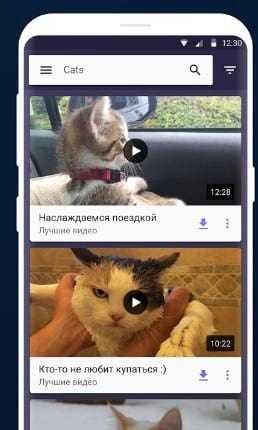 Видео на мобильном телефоне