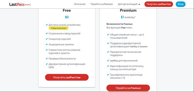 Программа LastPass