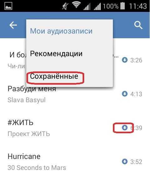 Слушать музыку ВКонтакте без интернета